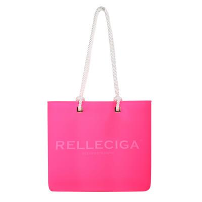 Růžová plážová silikonová taška - RELLECIGA