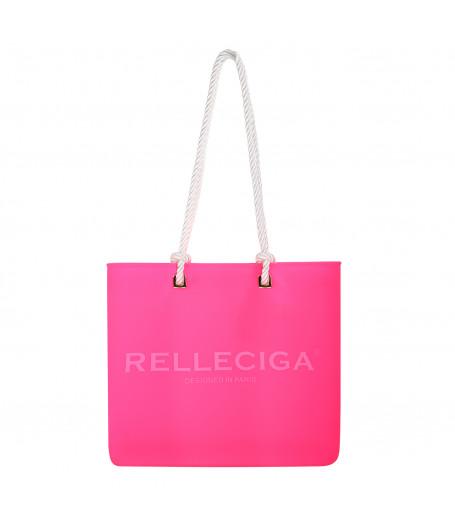 Ružová plážová silikónová taška - RELLECIGA