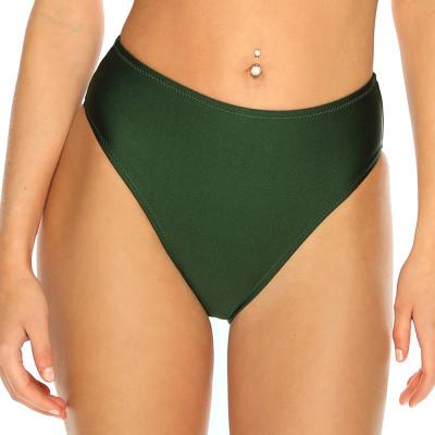 Olivově zelené plavky s vysokým pasem RELLECIGA