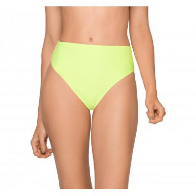 Neónovozelené plavky s vysokým pasem RELLECIGA Neon | spodní díl