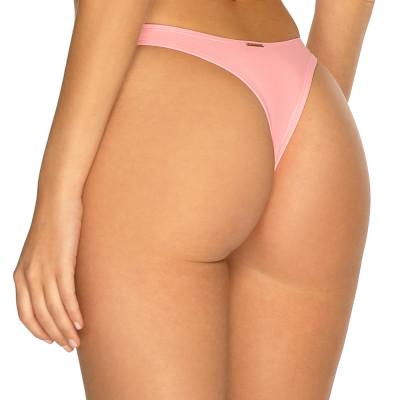 Pastelově růžové high-waist tanga plavky RELLECIGA Pastels l Bepon