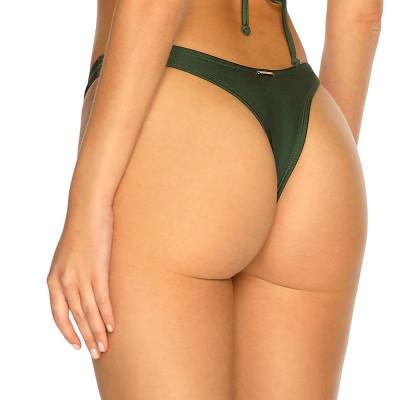 Olivově zelené high-waist tanga plavky RELLECIGA