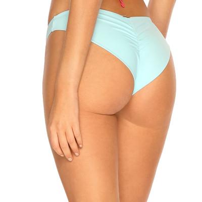 Pastelově modré brazilkové plavky s řasením RELLECIGA Pastels