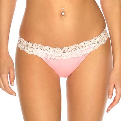 Pastelově růžové krajkové brazil plavky s řasením RELLECIGA Pastels l Bepon