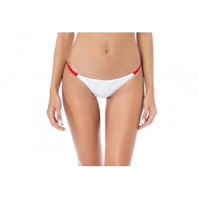 Bílé sportovní plavky s červeným proužkem RELLECIGA Paris Morning