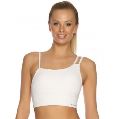 Asymetrická bílá sportovní podprsenka pro ženy RELLECIGA SPORTS